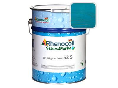 """Лак фасадный Rhenocoll Impragnierlasur 52S c защитой от синевы, """"Blau 5.24"""", шелковисто-глянцевый 1л Изображение"""