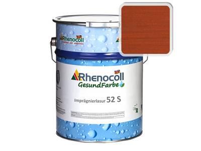 Лак фасадный Rhenocoll Impragnierlasur 52S c защитой от синевы, махагон, шелковисто-глянцевый 1л Изображение