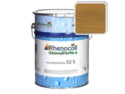 Лак фасадный Rhenocoll Impragnierlasur 52S c защитой от синевы, светлый дуб, шелковисто-глянцевый 1л Изображение