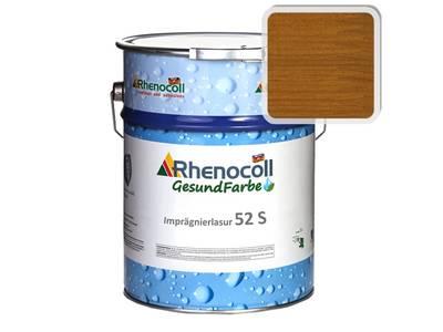 Лак фасадный Rhenocoll Impragnierlasur 52S c защитой от синевы, золотистый тик, шелковисто-глянцевый 1л Изображение