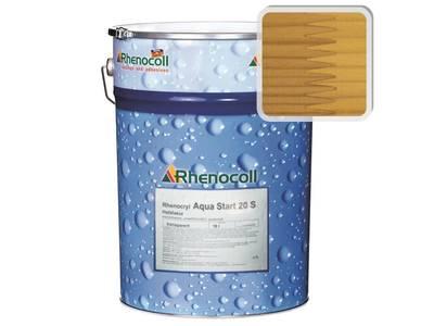 Лак фасадный Rhenocoll Aqua Start 20S сосна, шелковисто-матовый 1л Изображение