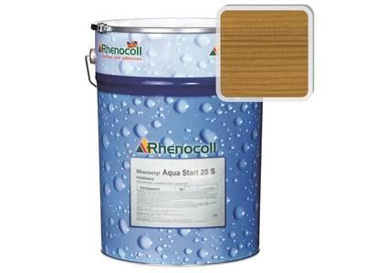 Лак фасадный Rhenocoll Aqua Start 20S светлый дуб, шелковисто-матовый 1л Изображение