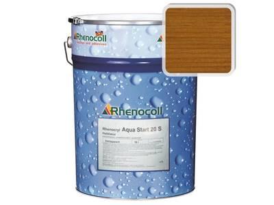 Лак фасадный Rhenocoll Aqua Start 20S золотистый тик, шелковисто-матовый 1л Изображение