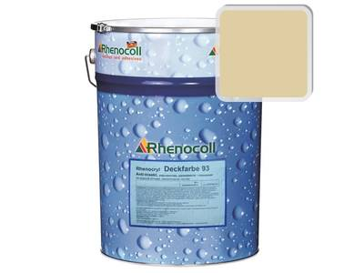 Краска фасадная Rhenocryl Deckfarbe 93A RAL 1014 шелковисто-глянцевая, 1л Изображение