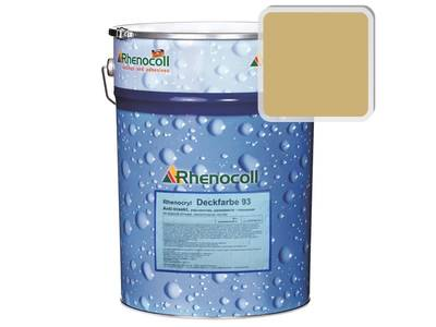 Краска фасадная Rhenocryl Deckfarbe 93C RAL 1002 шелковисто-глянцевая, 1л Изображение