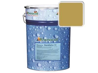 Краска фасадная Rhenocryl Deckfarbe 93C RAL 1024 шелковисто-глянцевая, 1л Изображение