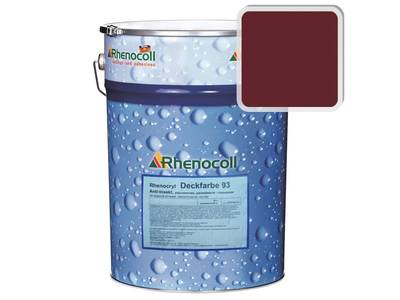 Краска фасадная Rhenocryl Deckfarbe 93C RAL 3005 шелковисто-глянцевая, 1л Изображение