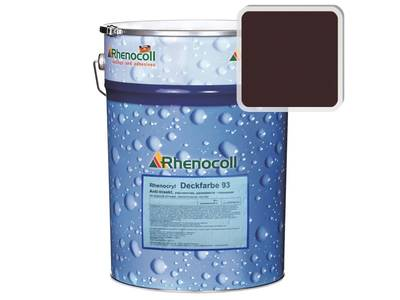 Краска фасадная Rhenocryl Deckfarbe 93C RAL 3007 шелковисто-глянцевая, 1л Изображение