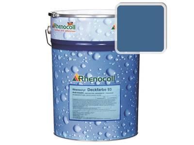 Краска фасадная Rhenocryl Deckfarbe 93C RAL 5007 шелковисто-глянцевая, 1л Изображение