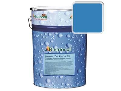 Краска фасадная Rhenocryl Deckfarbe 93C RAL 5012 шелковисто-глянцевая, 1л Изображение