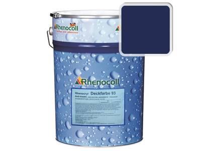 Краска фасадная Rhenocryl Deckfarbe 93C RAL 5013 шелковисто-глянцевая, 1л Изображение