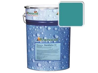 Краска фасадная Rhenocryl Deckfarbe 93C RAL 5018 шелковисто-глянцевая, 1л Изображение