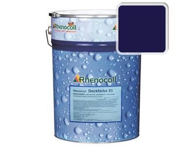 Краска фасадная Rhenocryl Deckfarbe 93C RAL 5022 шелковисто-глянцевая, 1л Изображение