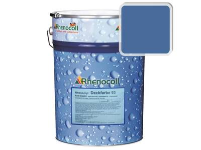 Краска фасадная Rhenocryl Deckfarbe 93C RAL 5023 шелковисто-глянцевая, 1л Изображение