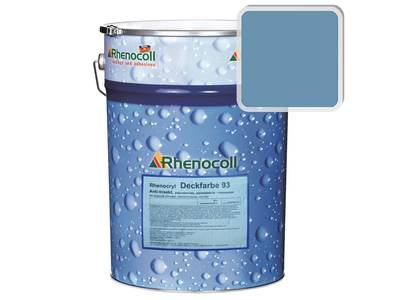 Краска фасадная Rhenocryl Deckfarbe 93C RAL 5024 шелковисто-глянцевая, 1л Изображение