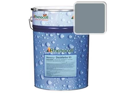 Краска фасадная Rhenocryl Deckfarbe 93A RAL 7001 шелковисто-глянцевая, 1л Изображение
