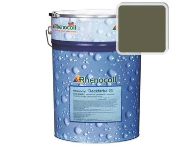 Краска фасадная Rhenocryl Deckfarbe 93C RAL 7002 шелковисто-глянцевая, 1л Изображение