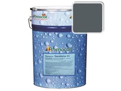 Краска фасадная Rhenocryl Deckfarbe 93C RAL 7011 шелковисто-глянцевая, 1л Изображение