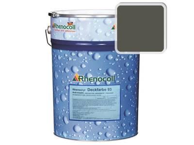 Краска фасадная Rhenocryl Deckfarbe 93C RAL 7013 шелковисто-глянцевая, 1л Изображение