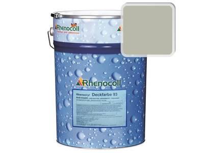 Краска фасадная Rhenocryl Deckfarbe 93A RAL 7032 шелковисто-глянцевая, 1л Изображение