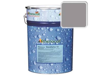 Краска фасадная Rhenocryl Deckfarbe 93A RAL 7036 шелковисто-глянцевая, 1л Изображение