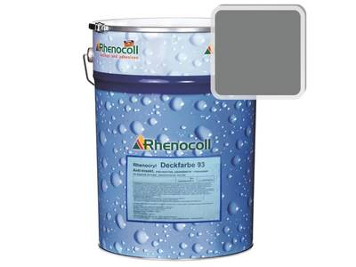 Краска фасадная Rhenocryl Deckfarbe 93A RAL 7037 шелковисто-глянцевая, 1л Изображение