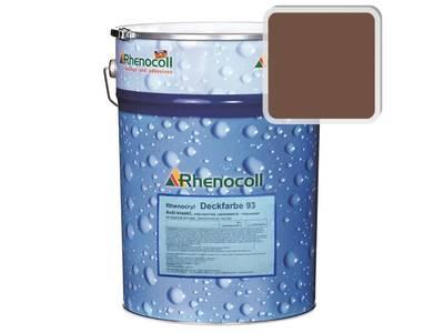 Краска фасадная Rhenocryl Deckfarbe 93C RAL 8002 шелковисто-глянцевая, 1л Изображение
