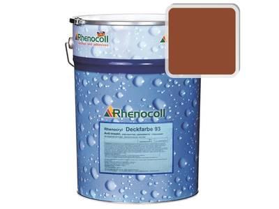Краска фасадная Rhenocryl Deckfarbe 93C RAL 8004 шелковисто-глянцевая, 1л Изображение