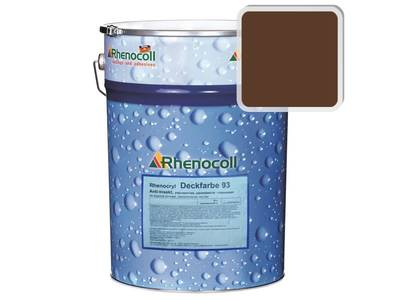 Краска фасадная Rhenocryl Deckfarbe 93C RAL 8011 шелковисто-глянцевая, 1л Изображение