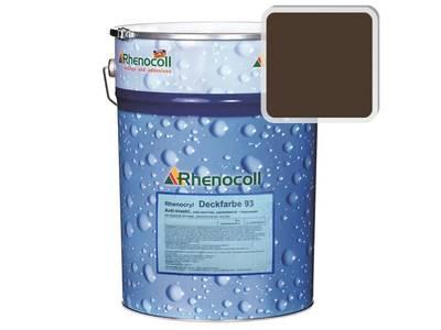 Краска фасадная Rhenocryl Deckfarbe 93C RAL 8014 шелковисто-глянцевая, 1л Изображение