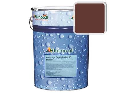 Краска фасадная Rhenocryl Deckfarbe 93C RAL 8015 шелковисто-глянцевая, 1л Изображение
