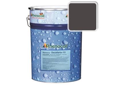 Краска фасадная Rhenocryl Deckfarbe 93C RAL 8019 шелковисто-глянцевая, 1л Изображение