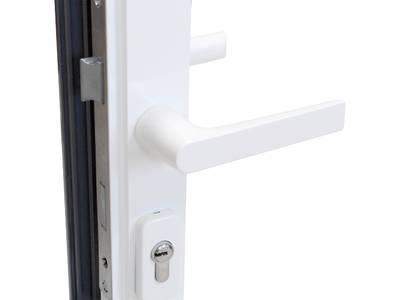 [ПОД ЗАКАЗ] Ручка NP Ultra дверная, круглая, Европаз, белая RAL9010, комплект 03992410 Изображение 5