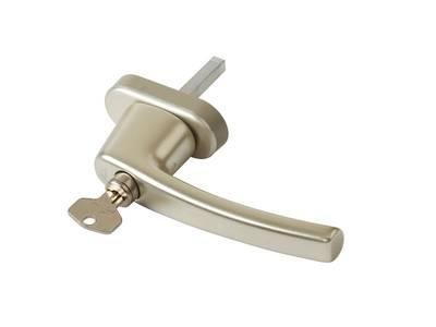 Ручка оконная с ключом Rotoline, 45мм, шампань Изображение 3