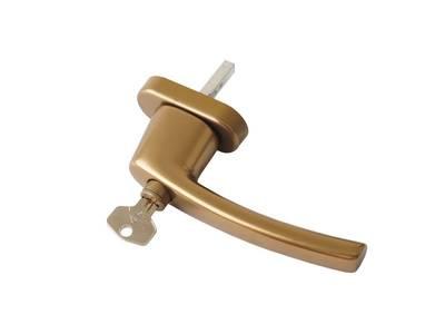 Ручка оконная с ключом Rotoline, 35мм, бронза, без логотипа, без винтов Изображение 3