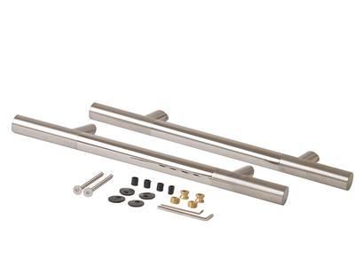 Прямоугольная ручка скоба дверная Medos CS (D=32 мм, 300 мм, L=500 мм, матовая/глянцевая) [114.CS.300.45] Изображение