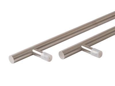 Ручка для алюминиевых дверей со смещением, комплект с креплением L= 1400, м/о 1200, D=32, матов. Изображение 3