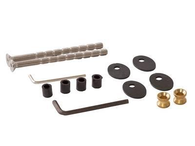 Ручка для алюминиевых дверей со смещением, комплект с креплением L= 1400, м/о 1200, D=32, матов. Изображение 2