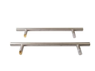 Прямоугольная ручка скоба дверная Medos SS (D=32 мм, 450 мм, L=650 мм, матовая) [114.SS.450.45] Изображение