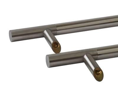 Прямоугольная ручка скоба дверная Medos CS (D=32 мм, 600 мм, L=800 мм, матовая/глянцевая) [114.CS.600.45] Изображение 2