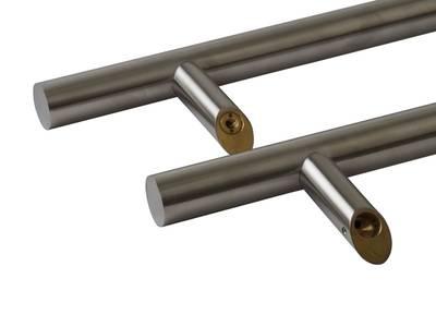Прямоугольная ручка скоба дверная Medos SS (D=32 мм, 600 мм, L=800 мм, матовая) [114.SS.600.45] Изображение 2