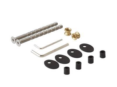 Ручка для алюминиевых дверей со смещением, комплект с креплением, L= 800, м/о 600, D=32, перф. Изображение 4