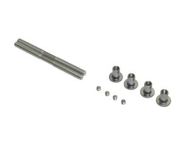 Ручка для алюминиевых дверей из нерж. стали, кронштейны неокраш., двухсторон., L=1000, D=32 Изображение 4