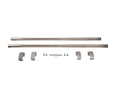 Ручка для алюминиевых дверей из нерж. стали, кронштейны неокраш., двухсторон., L=1000, D=32 Изображение 2