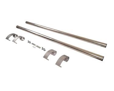 Ручка для алюминиевых дверей из нерж. стали, кронштейны неокраш., двухсторон., L=1000, D=32 Изображение