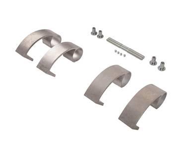 Ручка для алюминиевых дверей из нерж. стали, кронштейны неокраш., двухсторон., L=1000, D=32 Изображение 3