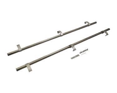 Ручка для алюминиевых дверей из нерж. стали, кронштейны неокраш., двухсторон., L=1500, D=32 Изображение 3