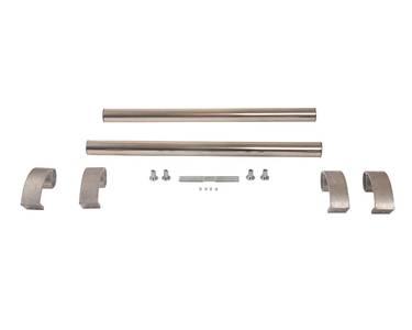 Ручка для алюминиевых дверей из нержавеющей стали, кронштейны неокраш., двухсторон., L=500, D=32 Изображение 2