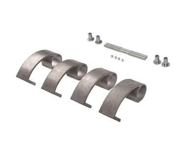 Ручка для алюминиевых дверей из нержавеющей стали, кронштейны неокраш., двухсторон., L=500, D=32 Изображение 3