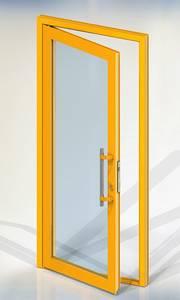 Ручка для алюминиевых дверей из нержавеющей стали, кронштейны неокраш., двухсторон., L=500, D=32 Изображение 4